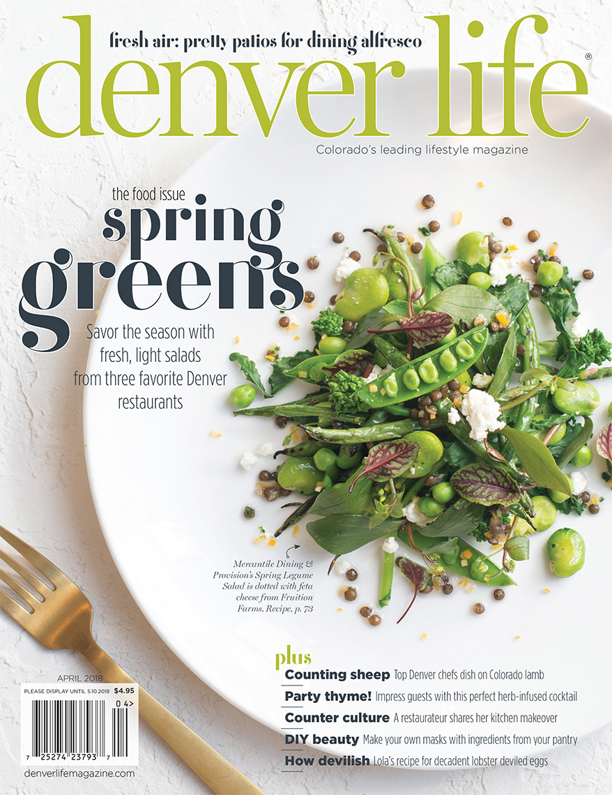 Denver Life Magazine Cover Salad Food PHotography APril 2018